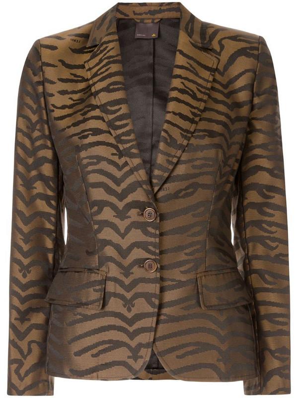 Fendi Pre-Owned leopard pattern blazer in brown