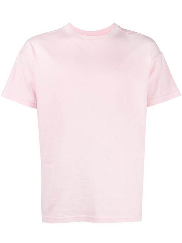 Styland embroidered logo T-shirt in pink