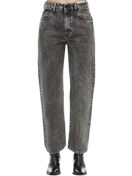 DIESEL Stone Wash Straight Jeans in black