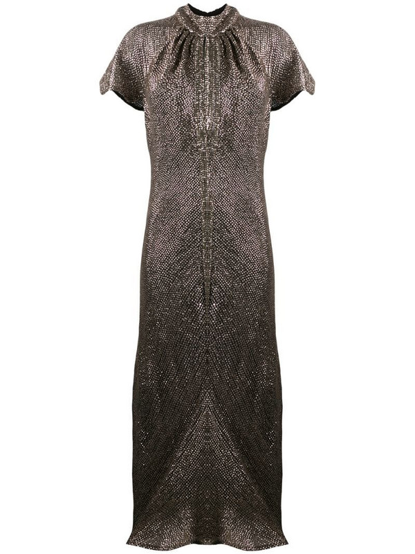Maria Lucia Hohan Julissa sequinned dress in silver