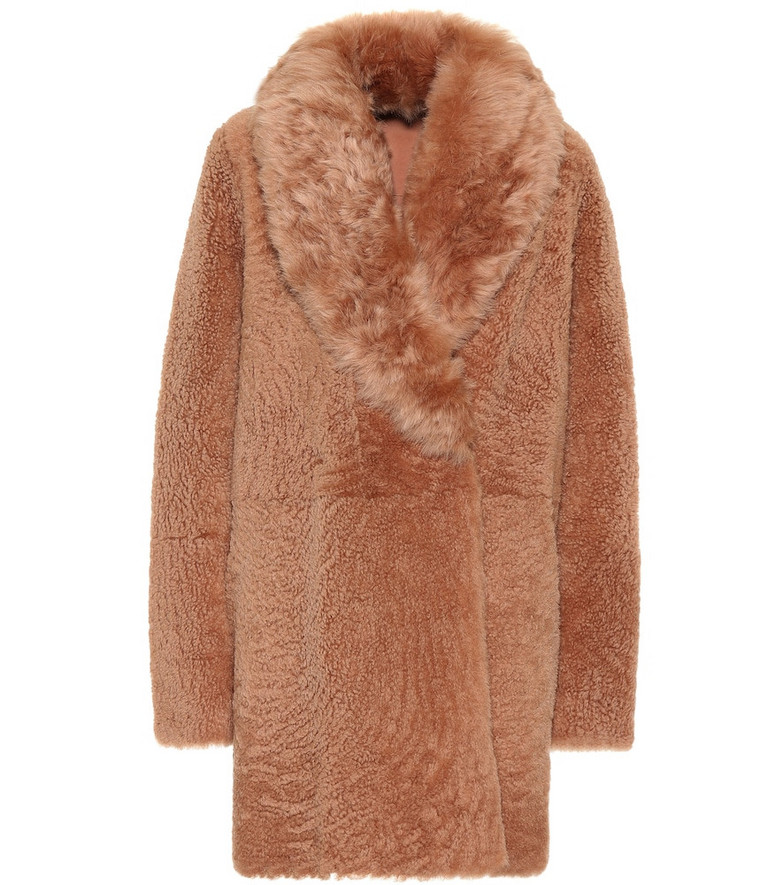 Yves Salomon - Meteo Reversible shearling coat in pink