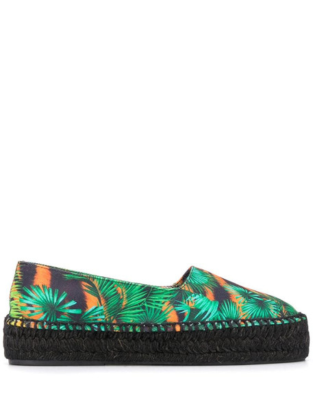 Versace Jeans Couture jungle print espadrilles in green