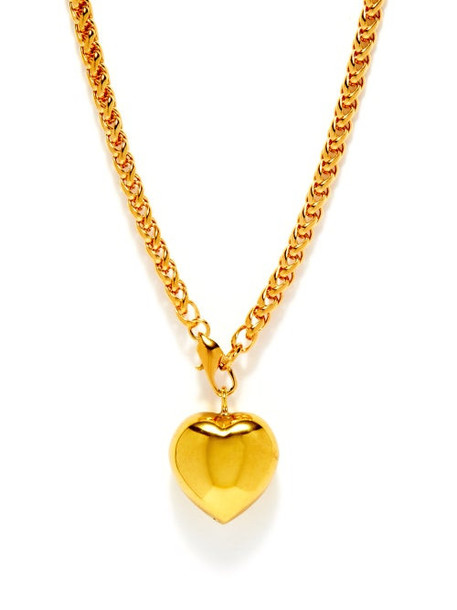 Timeless Pearly - 24kt Gold-plated Heart Necklace - Womens - Gold