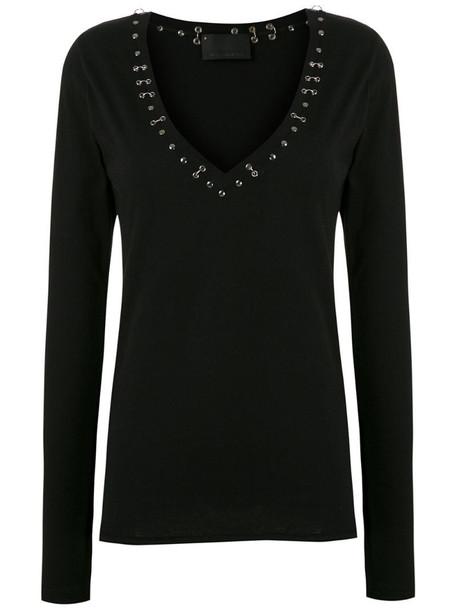 Andrea Bogosian Reload piercing-embellished top in black