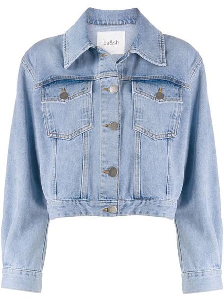 Ba&Sh Dilan cropped denim jacket in blue