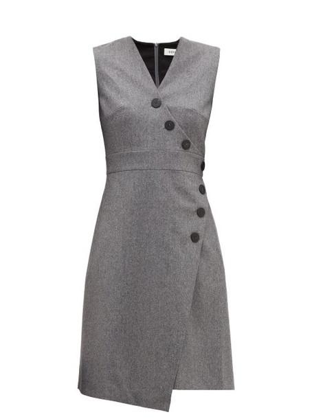 Cefinn - Asymmetric Wool Blend Felt Dress - Womens - Grey