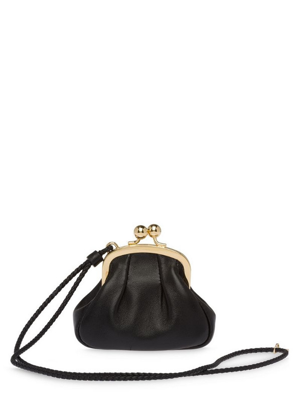 Miu Miu nappa leather coin pouch in black