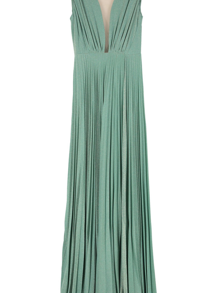 Elisabetta Franchi Celyn B. Elisabetta Franchi Celyn B. Lurex Jersey Long Dress in green
