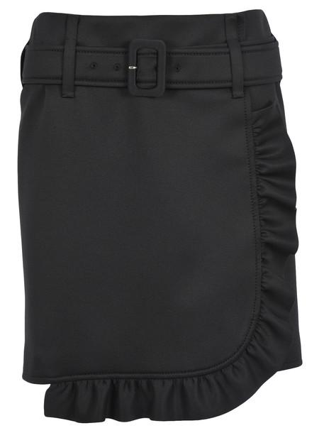 Prada Prada Ruffle-trim Skirt in black
