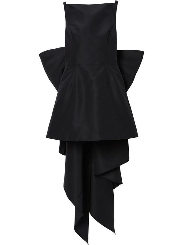 Carolina Herrera bow-detail silk minidress in black