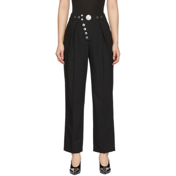 Alexander Wang Black Snap Placket Trousers
