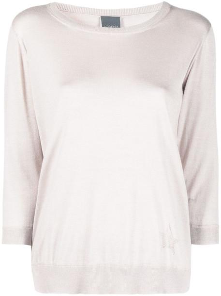 Lorena Antoniazzi three-quarter sleeve jumper in pink