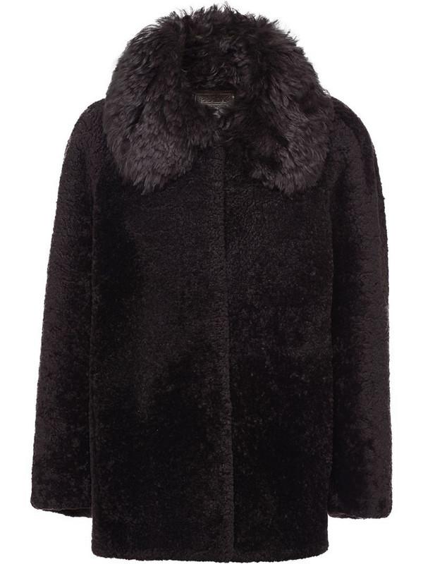 Prada shearling jacket in brown
