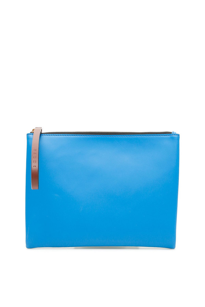 Marni Bicolor Pouch in blue / green