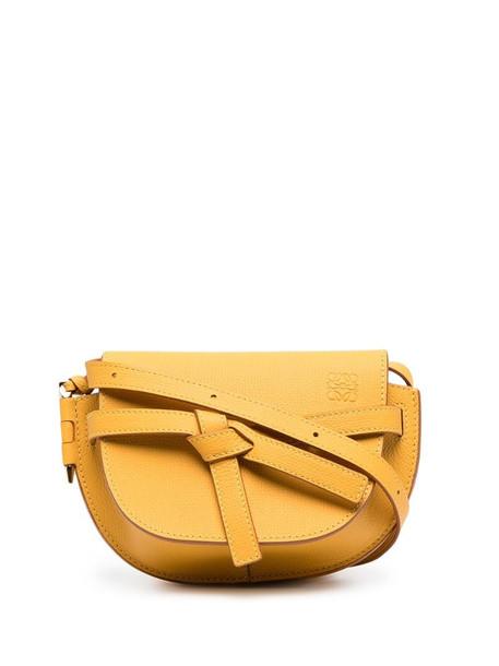 LOEWE mini Gate crossbody bag in yellow