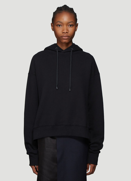 Maison Margiela Open Seam Hooded Sweatshirt in Black size XS