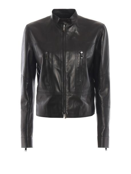 Valentino Valentino Leather Jacket in nero