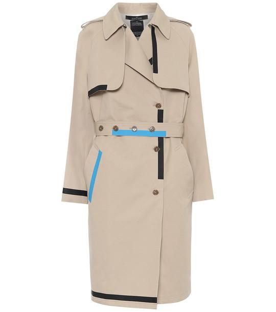 Rokh Cotton-gabardine trench coat in beige