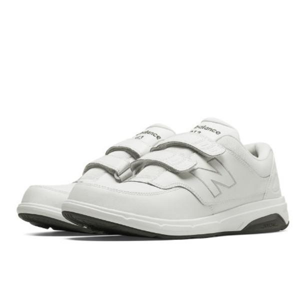 New Balance Hook and Loop 813 Men's Walking Shoes - White (MW813HWT)