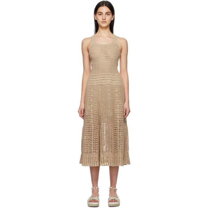 Loro Piana Beige Cotton Dress in sand
