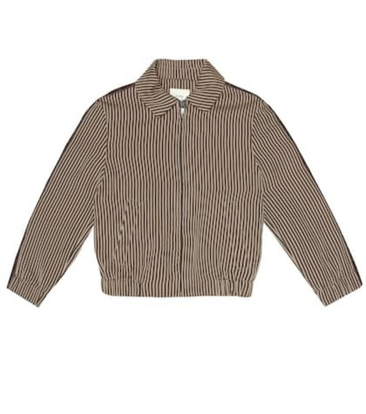 Fendi Kids Striped jacket in brown