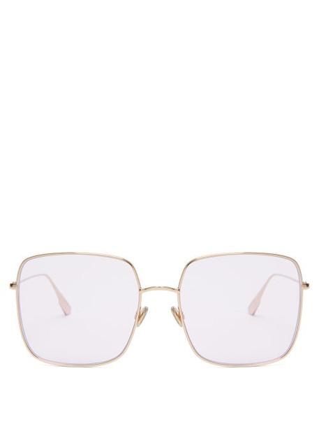Dior Eyewear - Diorstellaire Iridescent Square Sunglasses - Womens - Pink