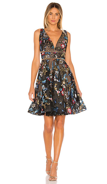 Bronx and Banco Paradise Flared Dress in Black