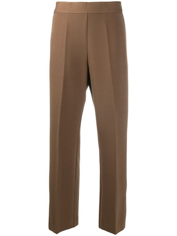 Altea high waist cropped trousers in brown