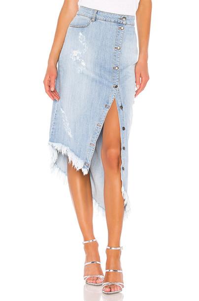retrofete Maude Skirt in denim / denim