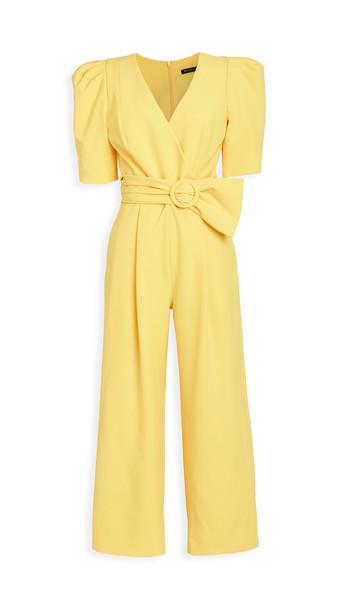 Black Halo Maricopa Jumpsuit in yellow
