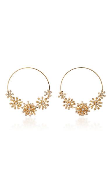 Rosantica Arcadia Gold-Tone Crystal Hoop Earrings