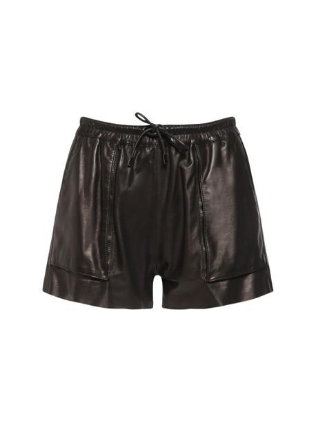 TOM FORD Leather Mini Shorts in black