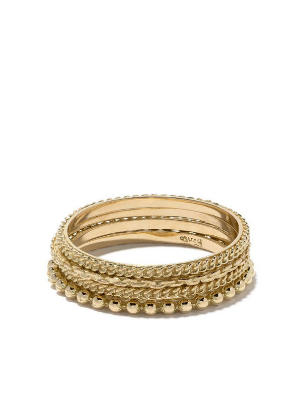 Wouters & Hendrix Gold 18kt gold four rings set in metallic