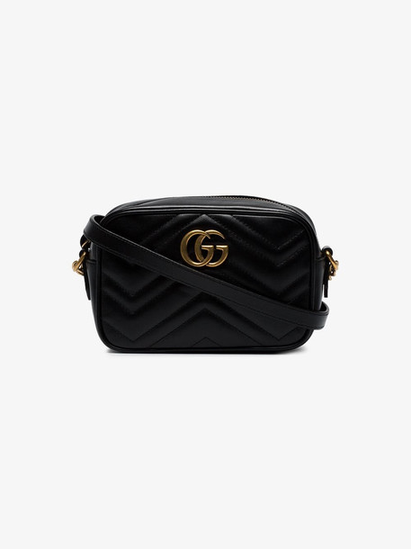 Gucci Black GG Marmont Mini leather bag