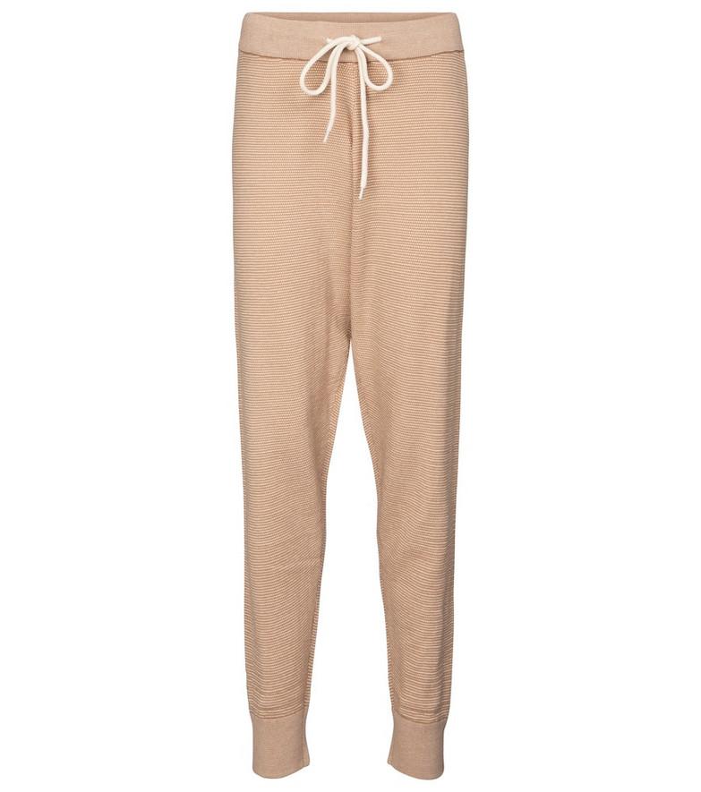 Varley Alice cotton knit sweatpants in beige