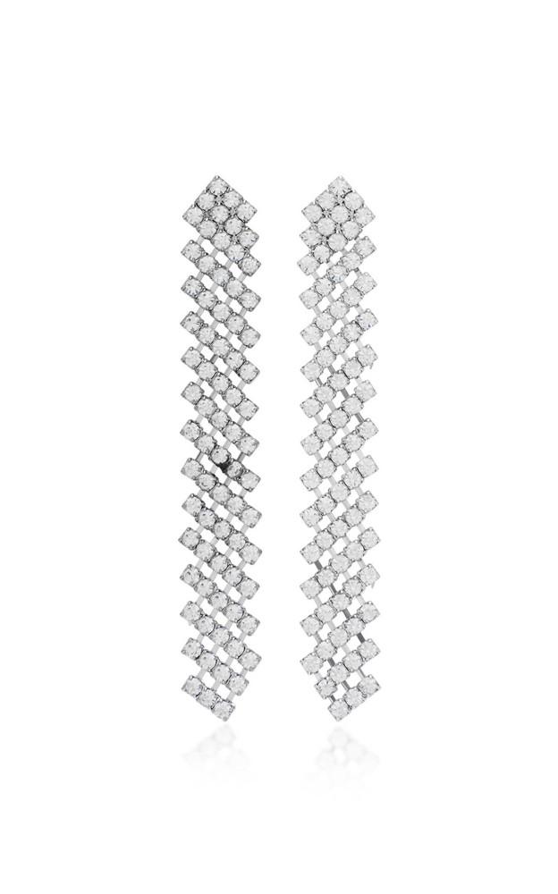 Jennifer Behr Pixie Crystal Drop Earrings in metallic