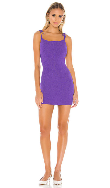 superdown Bailey Tie Strap Dress in Purple