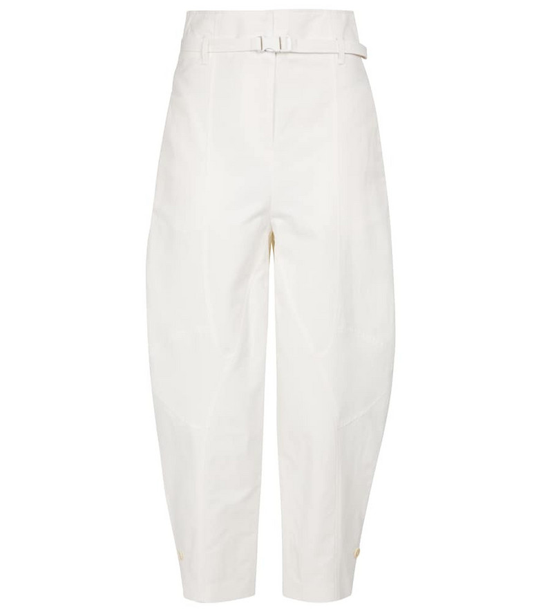 Stella McCartney Daisy high-rise cropped pants in white