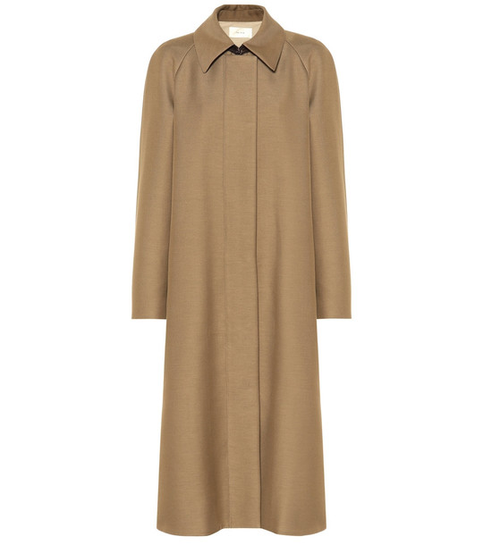 The Row Duru cotton and wool-blend coat in beige