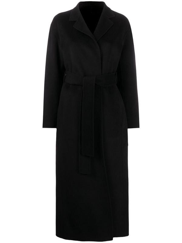 Filippa K Alexa belted coat in black