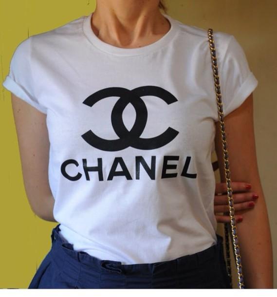 shirt chanel chanel t-shirt t-shirt chanel shirt vogue