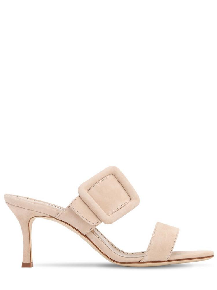 MANOLO BLAHNIK 70mm Gable Suede Sandals