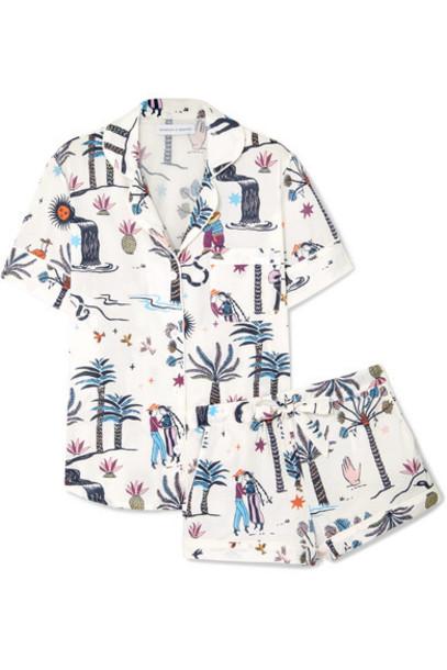 Desmond & Dempsey - Printed Cotton-voile Pajama Set - White