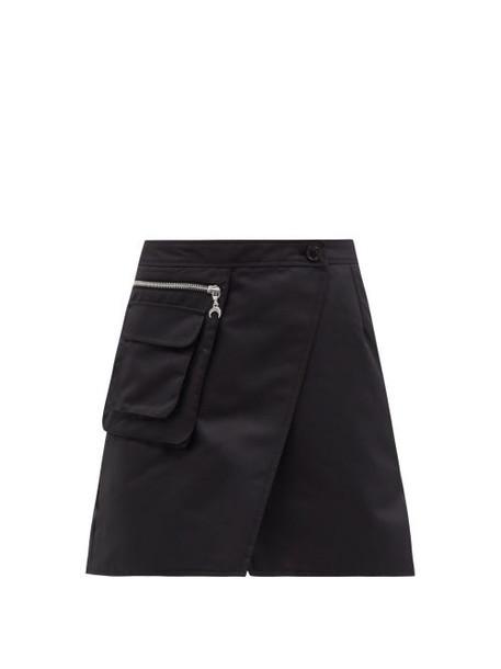 Marine Serre - Survival Cycling Technical Jersey Mini Skirt - Womens - Black