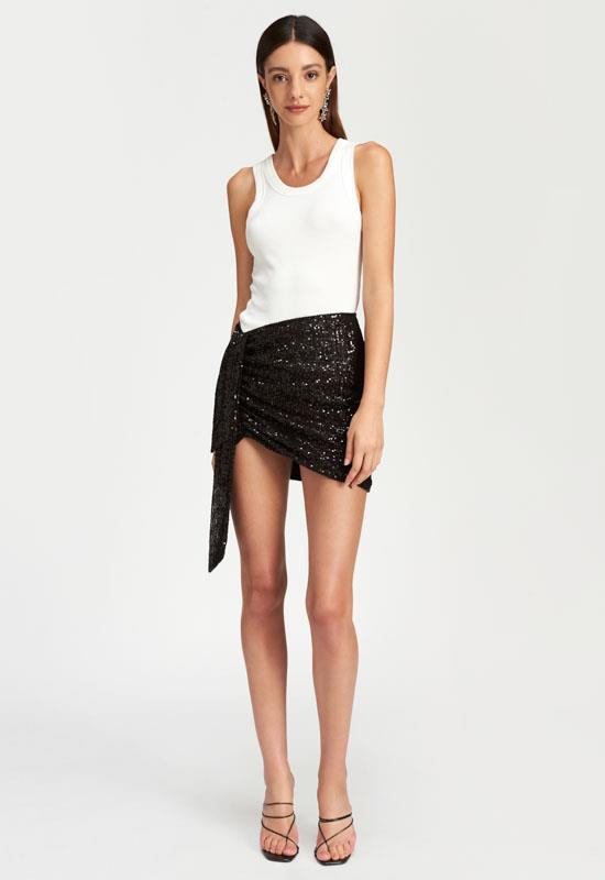 Diamonds In The Sky Mini Skirt - BLACK - Lioness