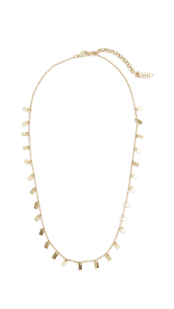 Luv Aj The Baguette Disc Shaker Necklace in gold
