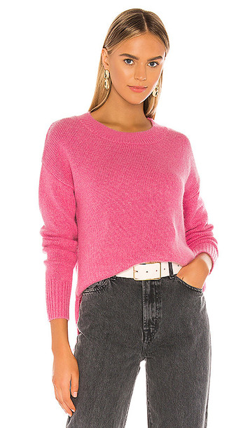 One Grey Day Lyle Cashmere Pullover in Pink