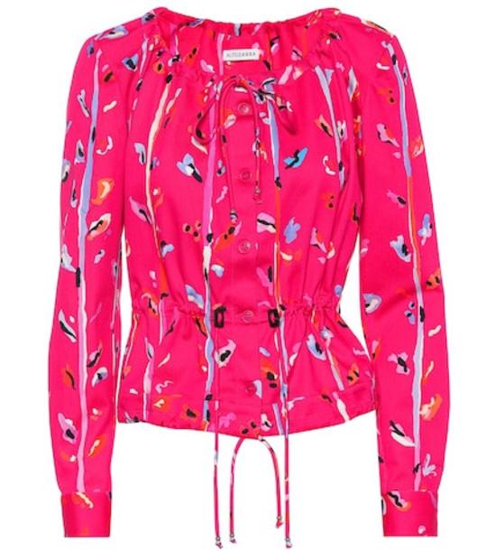 Altuzarra Agata printed stretch cotton jacket in pink