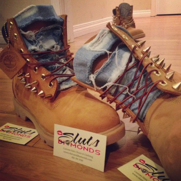 shoes denim timberlands