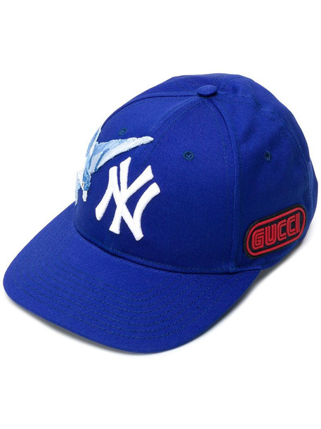 Gucci patch details hat in blue